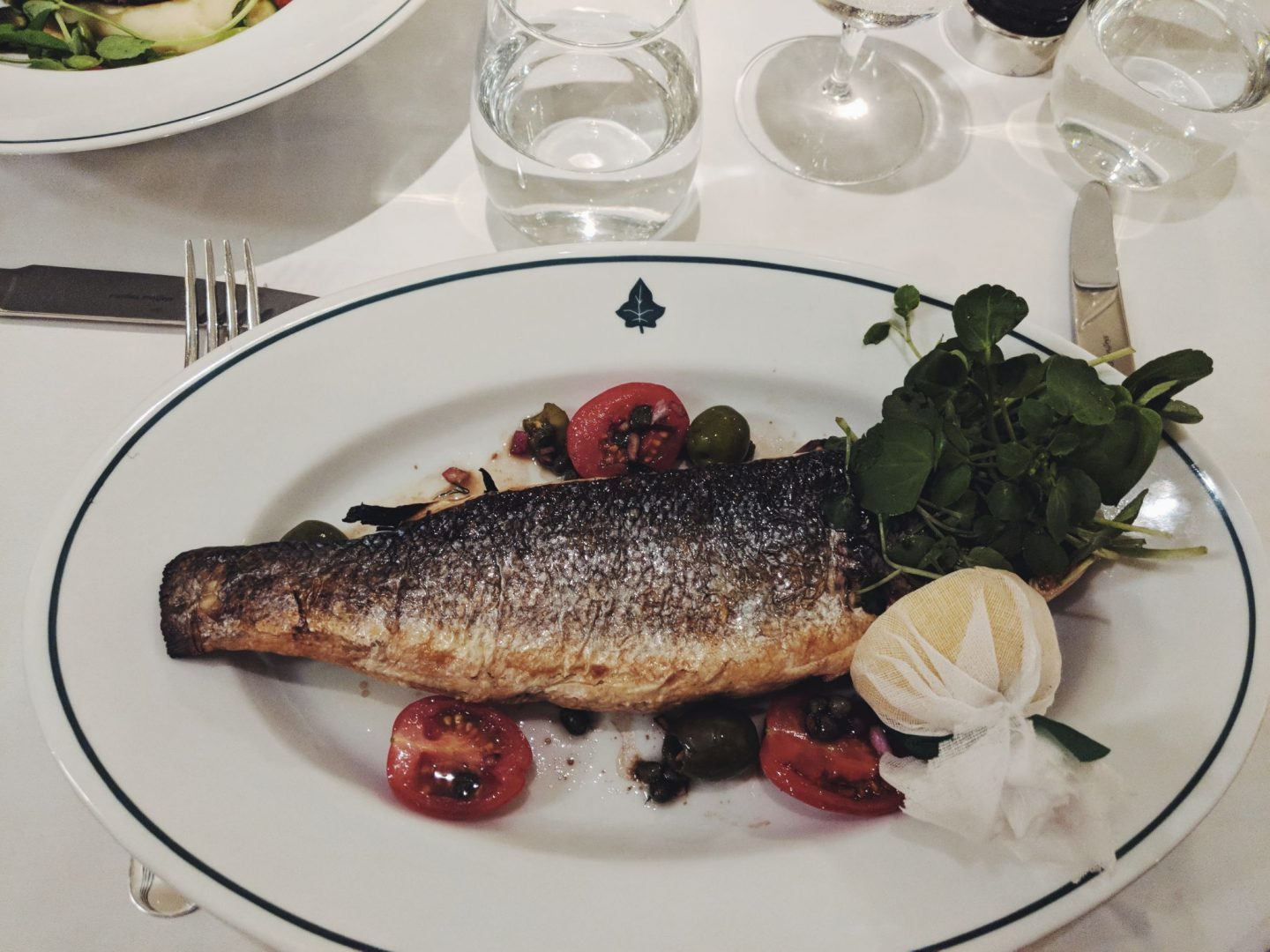Sea Bass at The Ivy Winchester