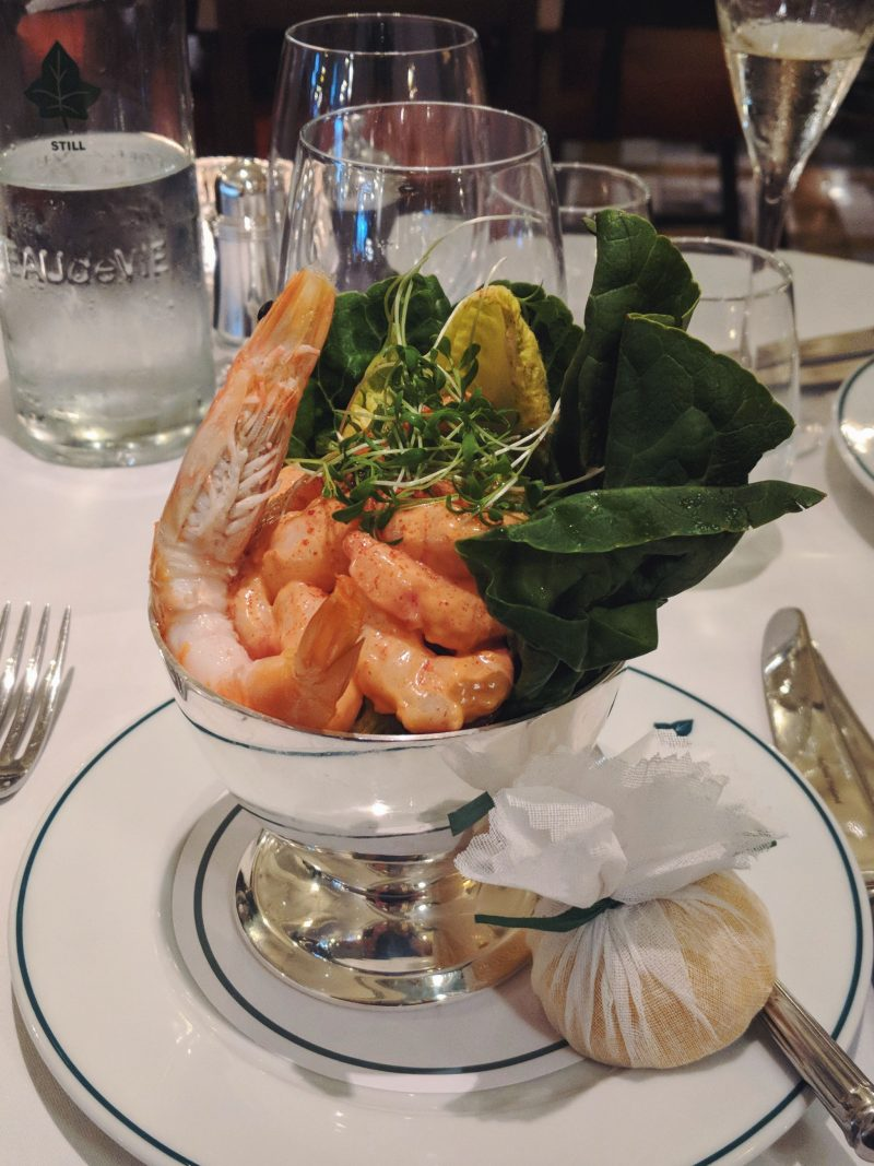 Prawn cocktail starter at The Ivy Winchester