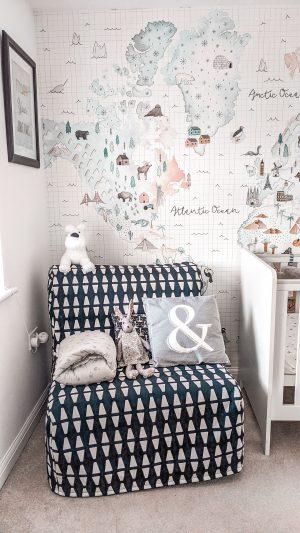 ikea chair bed in nursery
