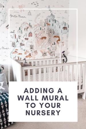 wall mural in nursery from photowall