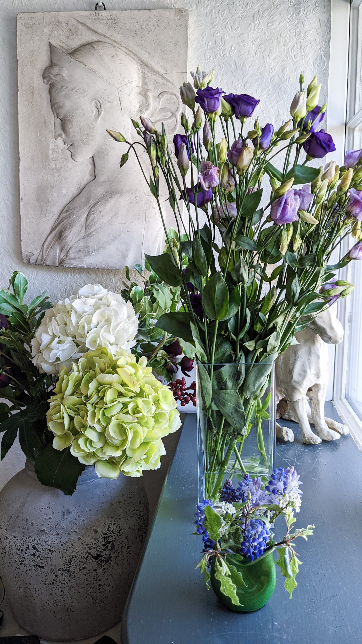 fresh flowers in the house