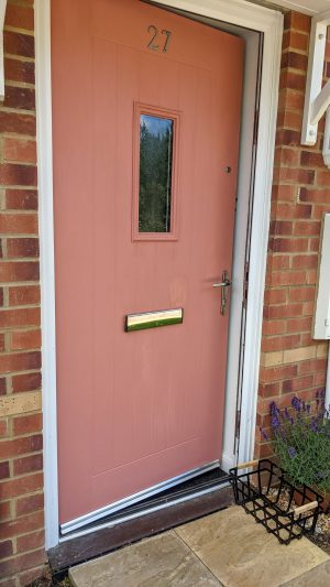 red upvc front door
