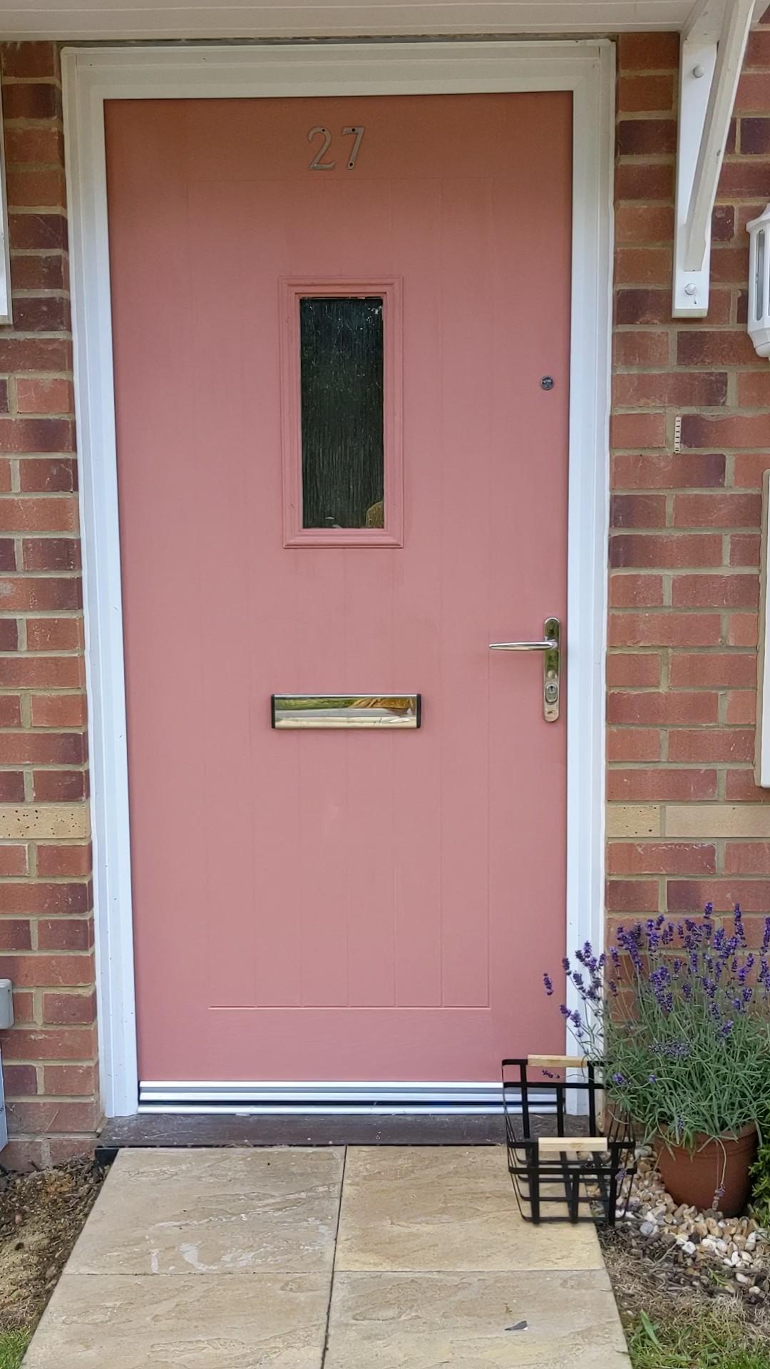red 03 front door lick paint